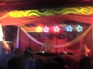 DJ music tent