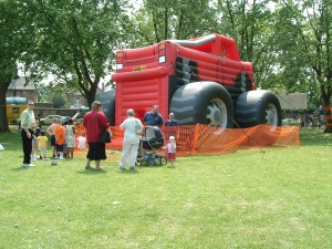 Truck bouncy castle